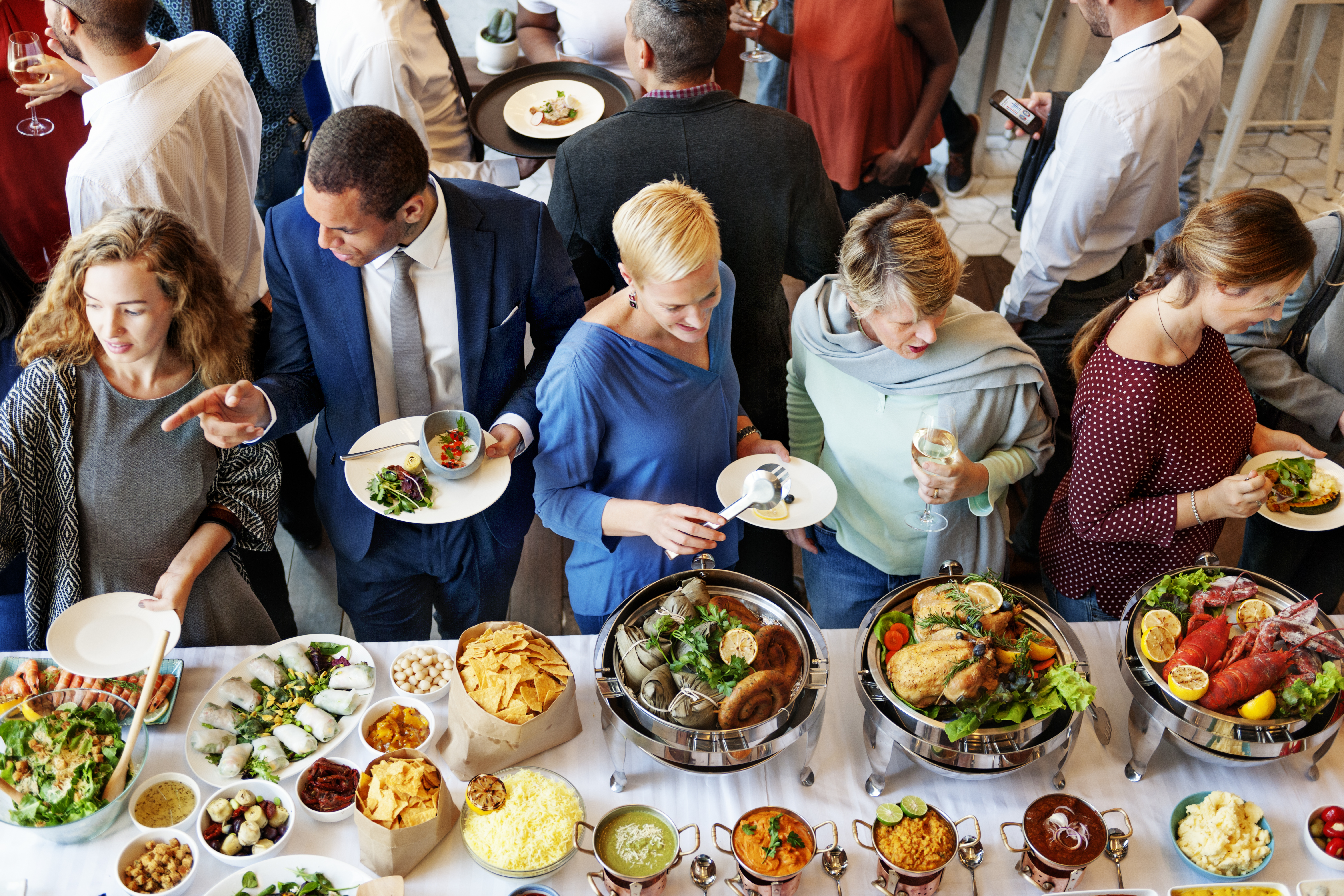 Buffet Catering Cafe Cuisine Culinary Meal Unity Concept>
